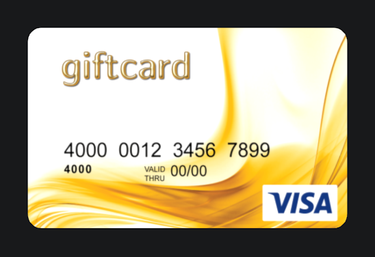 Cards4all VISA gift card