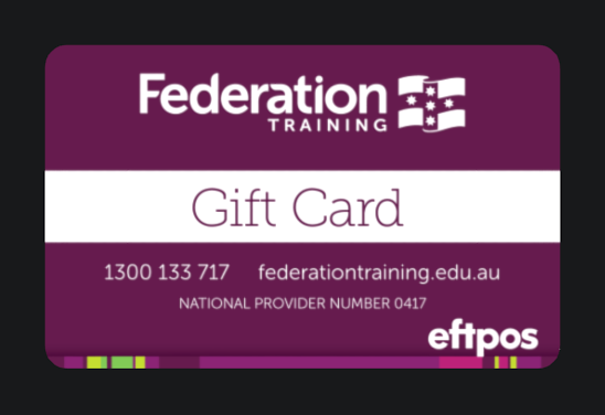 Federation-training-giftcard